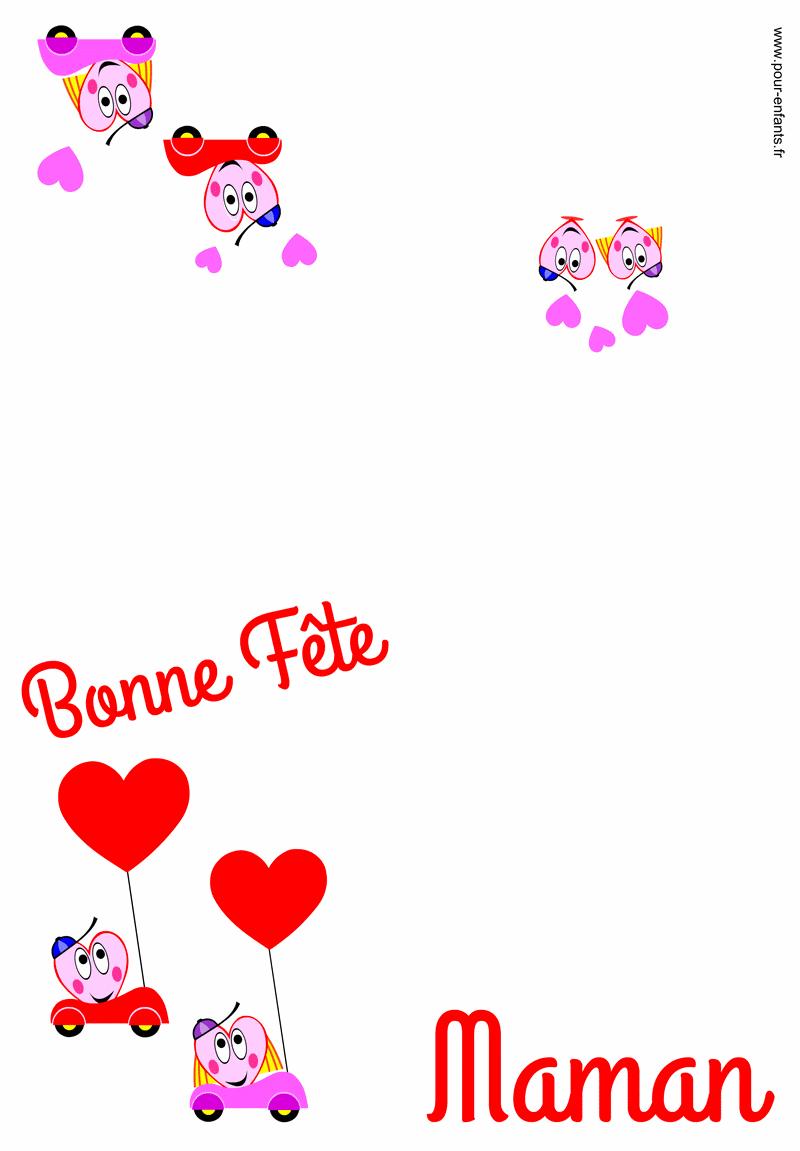 Carte FETE des MERES à imprimer pour maman fête des mères dessin à imprimer fête des mamans coloriages
