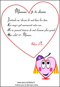 Fête Des Mères Poeme Fete Des Meres Court Maternelle Pour Maman