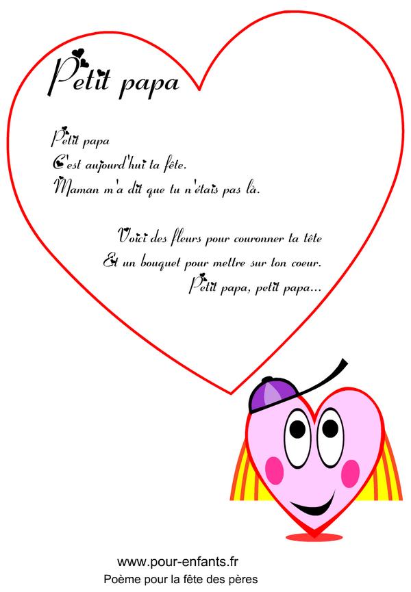 F te des p res imprimer un po me en images pour la f te des p res poemes - Fetes des peres 2014 ...