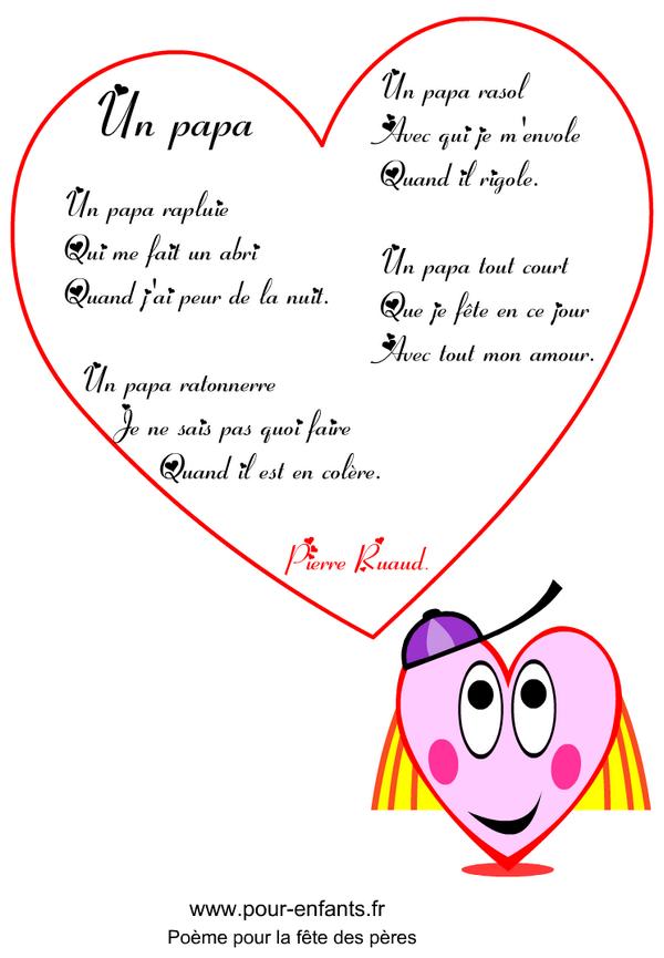 F te des p res un papa rapluie imprimer un po me en images pour la f te des p res poemes - Citation fete des peres ...
