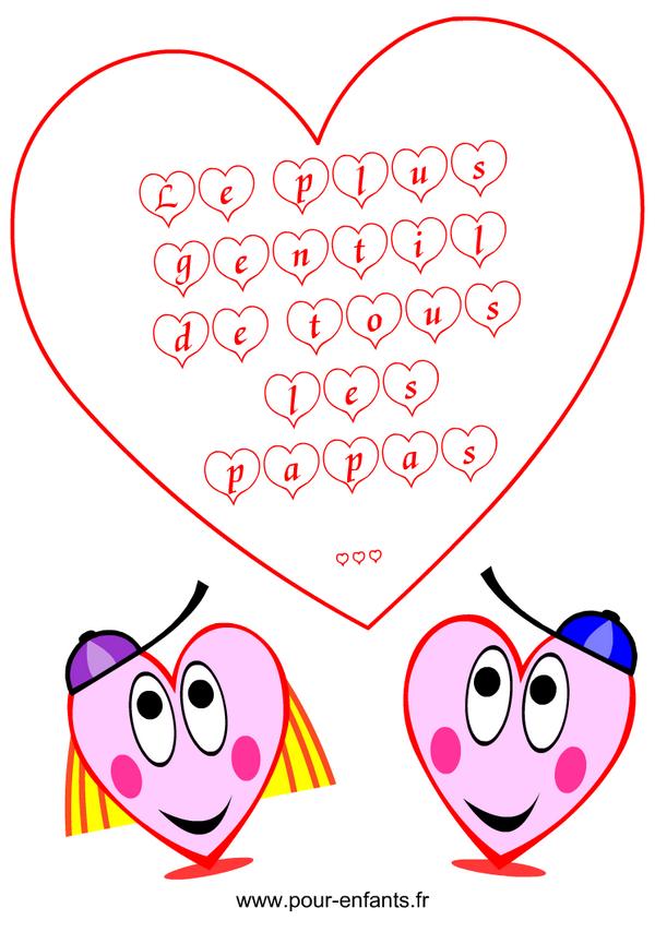 Coloriage : imprimer des mots d'amour à colorier pour la fête des