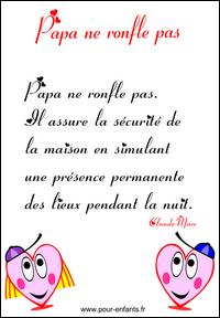 Textes f te des p res imprimer texte pour la fete des peres papas apprendre pour enfants - Donne carton demenagement gratuit ...