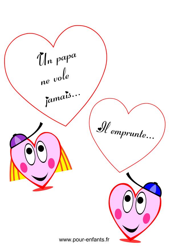 Texte f te des p res textes amusants imprimer avec coeurs fete des peres papas humour - Mot pour la fete des peres ...