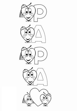 Coloriage pour papa dessin de papa anniversaire fête des papas fête des pères