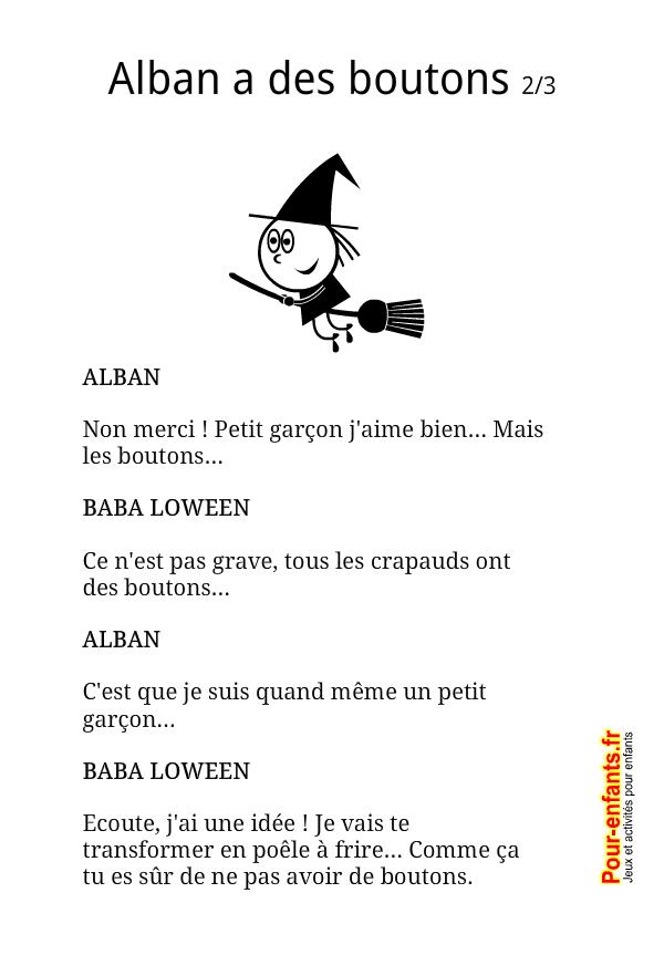 Pour enfants 2017 textes d 39 halloween imprimer alban a - Faire une sorciere pour halloween ...