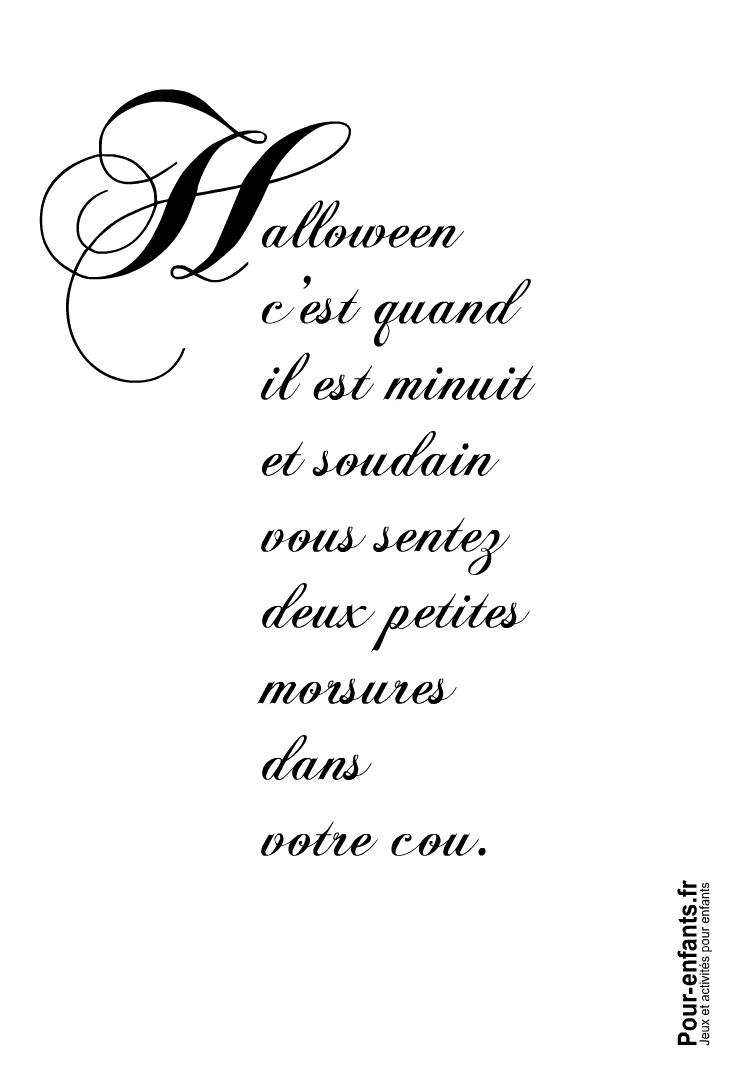 Imprimer Halloween c'est quand texte amusant