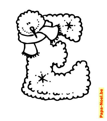 Alphabet de noel lettre e - Lettre de noel a imprimer ...