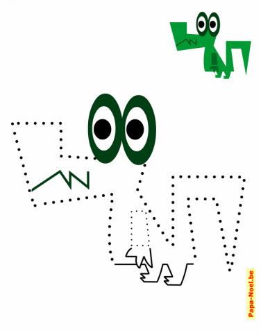 Bricolage de noël des activités de coloriage de crocodile rigolo