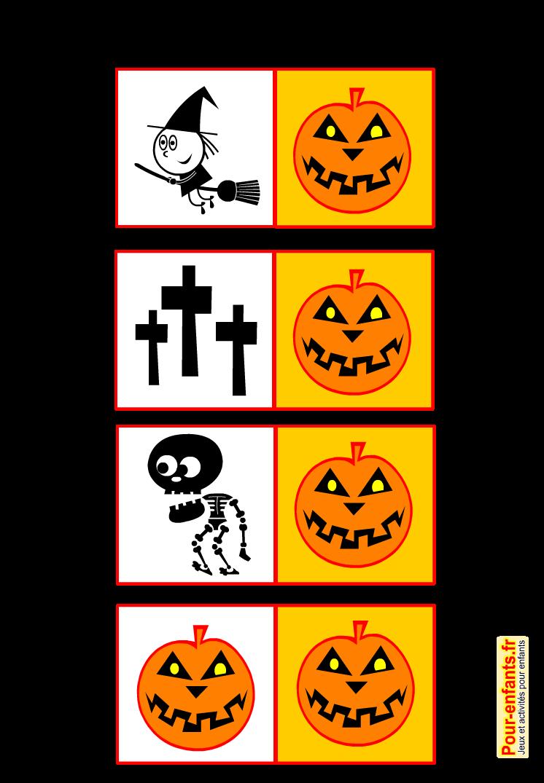Jeux De Memory Halloween A Imprimer Gratuit Pour Enfants Memory Memory