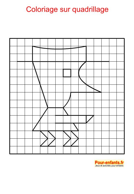 Coloriage géométrique. Bonhomme à imprimer.