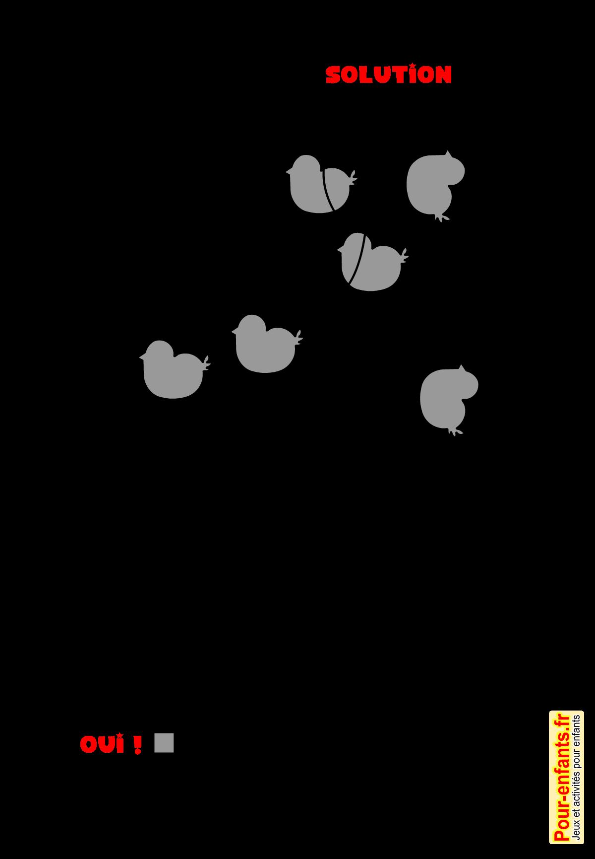 Assez Jeux de Pâques à imprimer solution Jeu d'observation PAQUES enfants PB62