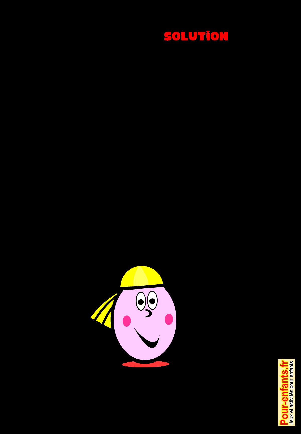 Jeux de p ques imprimer solution jeu de mots vocabulaire paques enfants - Image de paques gratuit ...