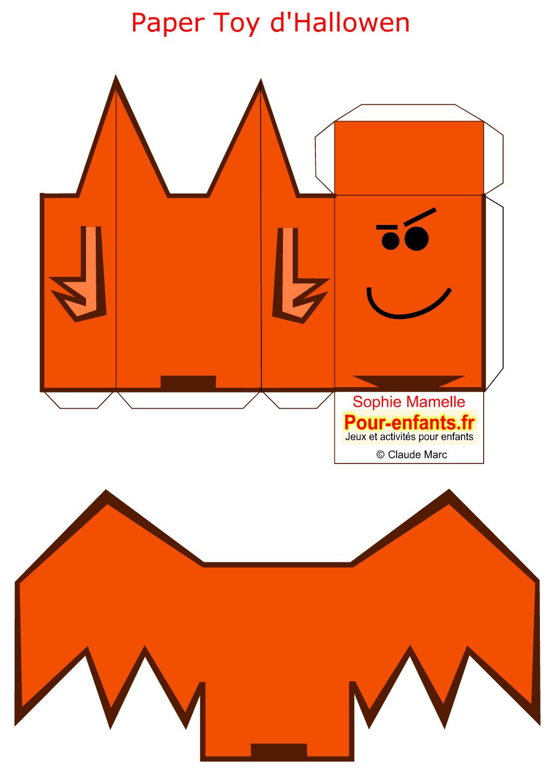 Paper Toys De Chauve Souris Halloween à Imprimer Gratuitement Pour ...