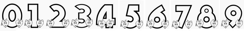 Chiffres à imprimer Tous les chiffres de 0 à 9 Coloriage de chiffre 0 1 2 3 4 5 6 7 8 9