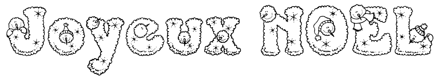 Imprimer son prénom lettres de NOEL fantaisie pour faire un