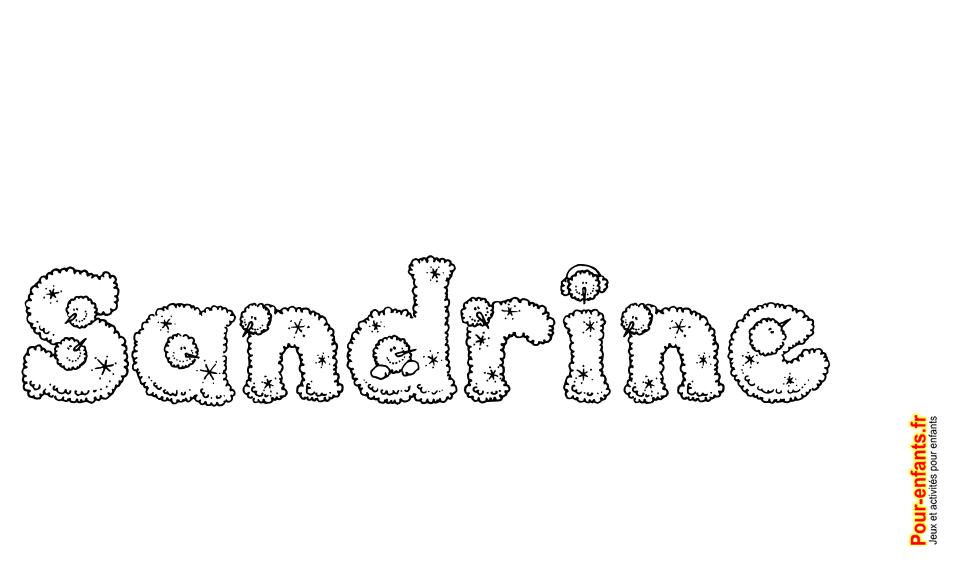 Extrêmement Imprimer le prénom Sandrine lettres de NOEL texte Joyeux NOEL  YC99