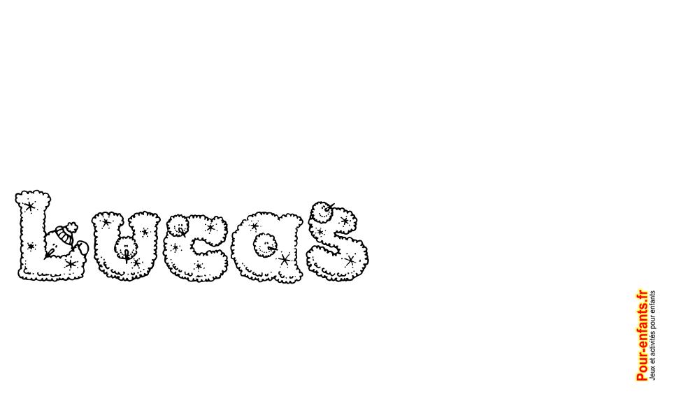 imprimer le prénom lucas lettres de noel texte joyeux noel lucas