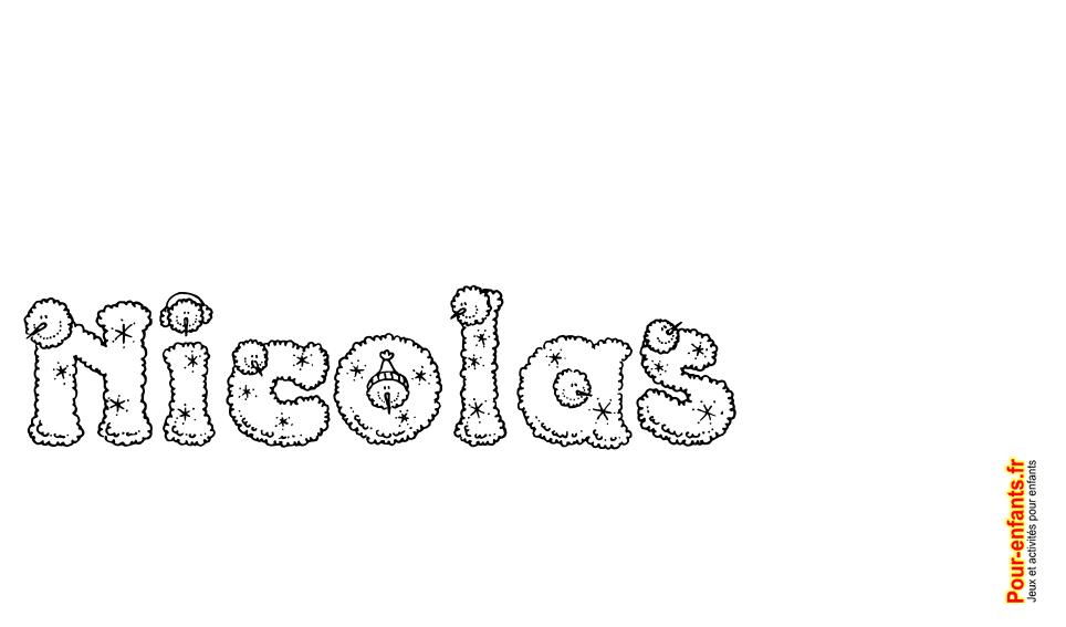 Imprimer le pr nom nicolas lettres de noel texte joyeux noel nicolas fantaisie pour faire un - Prenom a imprimer ...
