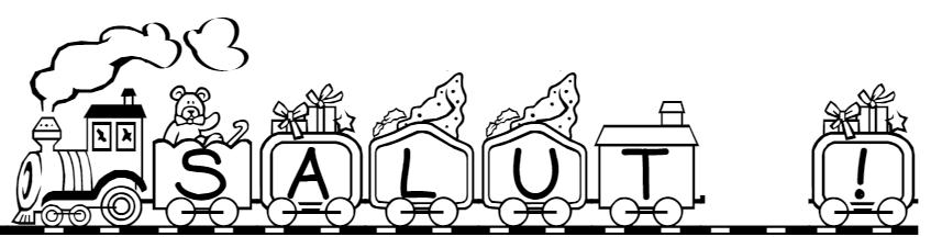 Imprimer son pr nom lettres train wagons locomotive pour faire un coloriage enfants maternelle - Train en dessin ...