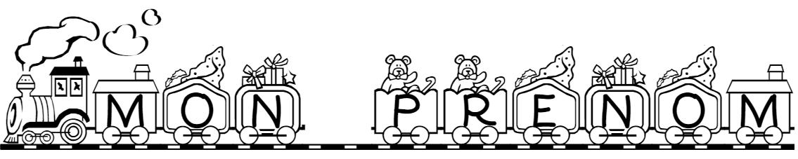 Imprimer son pr nom lettres train wagons locomotive pour - Prenom a imprimer ...