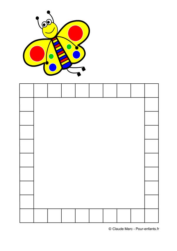 Frise maternelle jeux a imprimer fiches de frises - Papillon maternelle ...