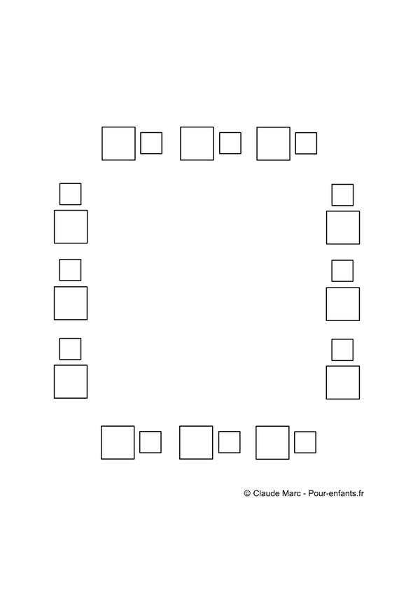 Relativ Frise maternelle| A imprimer gratuit fiches enfants cadre avec  QF87