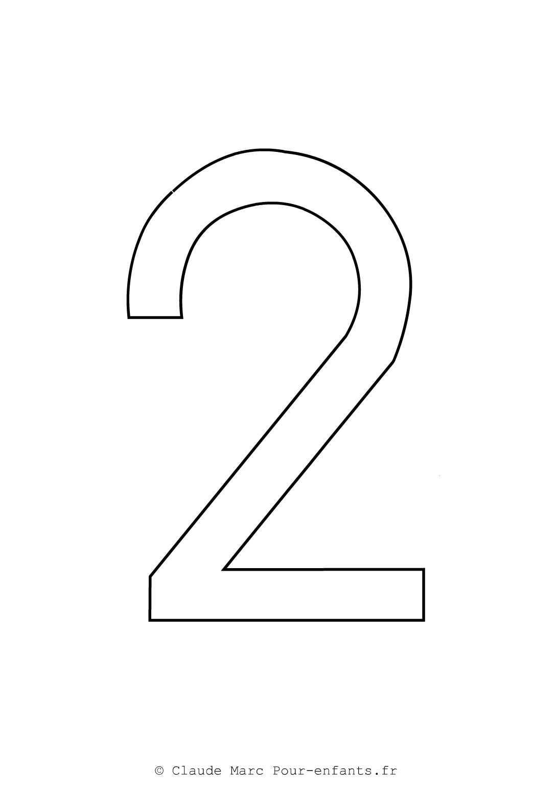 Imprimer grands chiffres en maternelle coloriage chiffre 2 deux cahier fiches d activites - Coloriage chiffres a imprimer ...