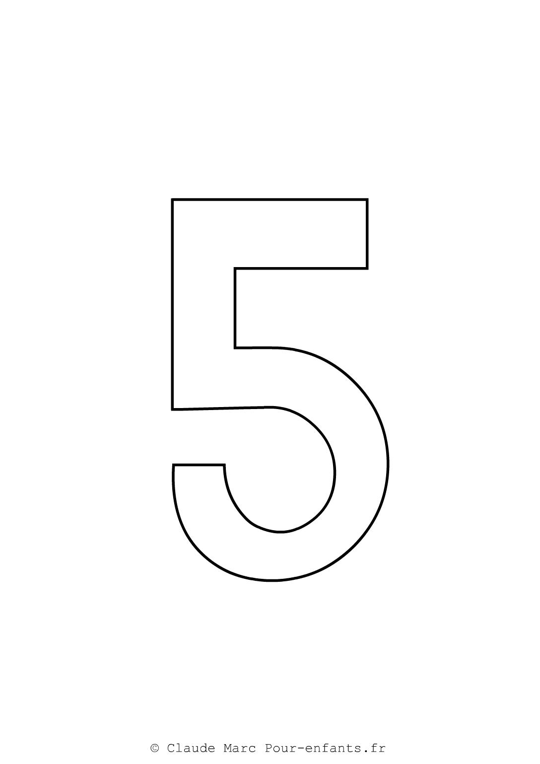 Imprimer grands chiffres en maternelle coloriage chiffre 5 cinq cahier fiches d activites - Coloriage chiffres a imprimer ...