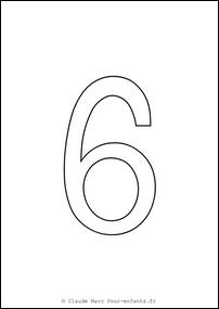 Imprimer grands chiffres en maternelle coloriage chiffre 6 six cahier fiches d activites - Chiffre a imprimer gratuit ...
