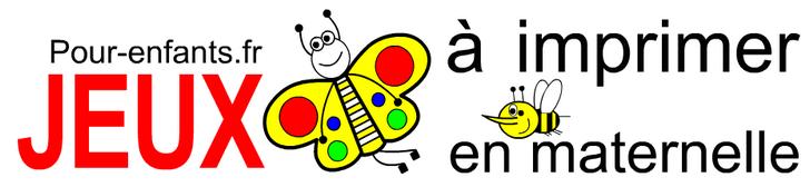 Jeux à imprimer en maternelle Ps ms gs