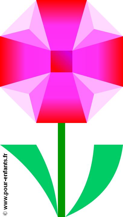 Dessiner une fleur dessins coloriages de fleurs en couleur - Photo de fleur a dessiner ...