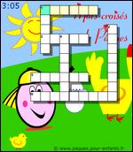 PAQUES Jeux de mots croisés en ligne gratuits