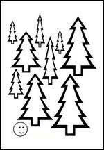 Dessin de sapin NOEL image sapins images dessins coloriage enfant gratuit à imprimer gratuitement