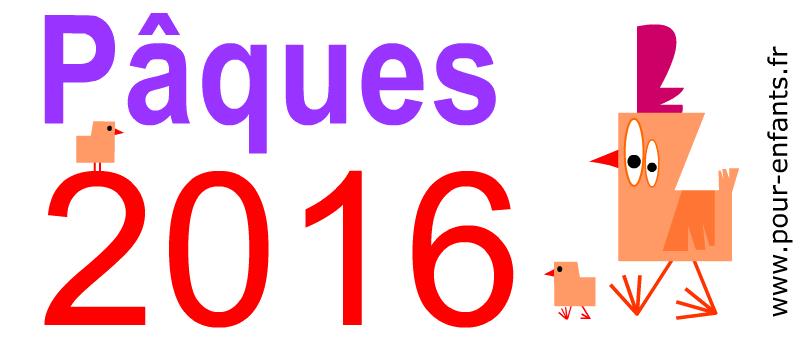 Dessin PAQUES 2016 à imprimer Poule de Pâques et poussins
