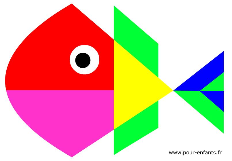 Poisson d'avril à imprimer. Dessin de poisson d'avril pour enfants de maternelles.