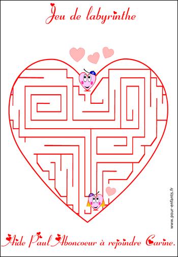 Jeux de labyrinthe saint valentin jeu de labyrinthe imprimer jeux de labyrinthes soltion des - Jeu labyrinthe a imprimer ...