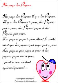 Fête Des Pères Poèmes Comptines Poésies Textes Pour La Fête Des