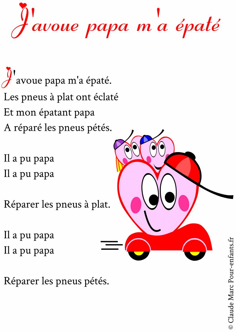 Poème Pour Papa à Imprimer Poemes Fete Des Papas Humour