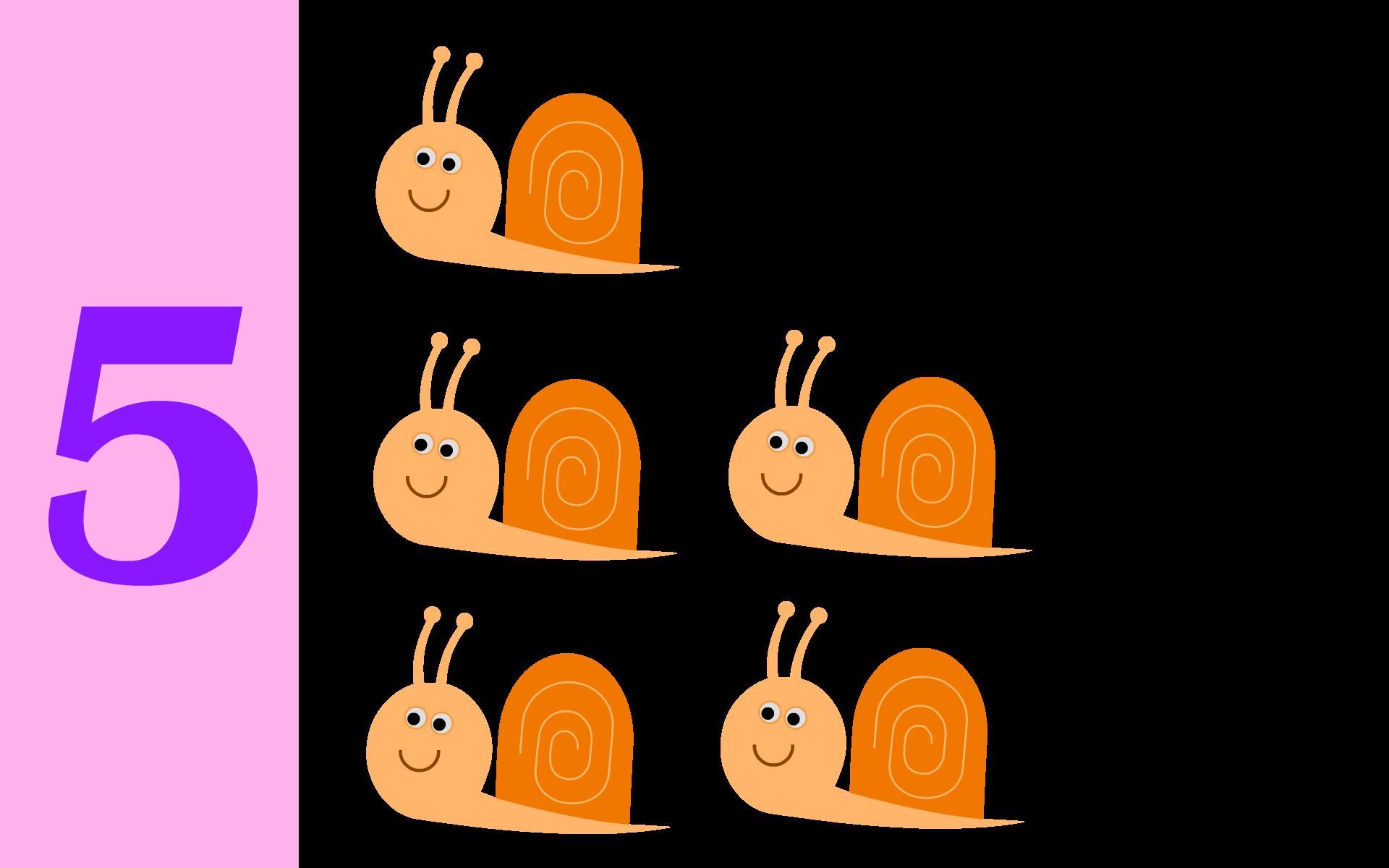 Imprimer livre à compter maternelle 5 escargots Ps ms gs petite ...