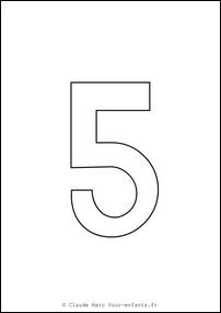 Imprimer grands chiffres en maternelle | Coloriage chiffre 5 CINQ cahier fiches d activites ...